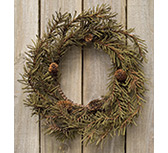 Country Pine Wreath, 12""