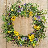 Mixed Pansy Wreath - 20""