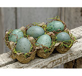 Blue Eggs in Carton, 3.5x5.5""
