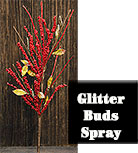 Red Glitter Bud Spray