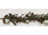 +Country Bell Pine Garland