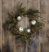 Country Bell Pine Wreath - 20""