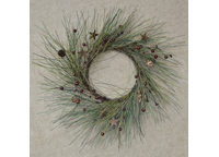 Country Needle Pine Wreath, 14""