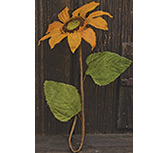Burlap Sunflower - Orange
