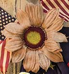 Burlap Sunflower, 35""