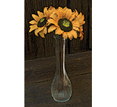 Burlap Sunflower bunch - 11""