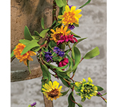 Mixed Prairie Daisy Garland, 4Ft