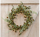 Birds Eye Daisy Garden Wreath