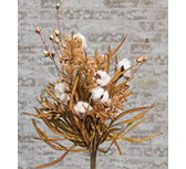 Cotton & Fall Grass Bush, 24\