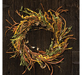 Fall Wheat & Grass Wreath, 20\