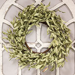 Flocked Leaves Wreath, 24\