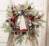 Buffalo Gingham Country Holiday Wreath, 17\