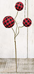 Buffalo Gingham Ball Pick, 14\