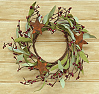 Rusty Star & Pips Wreath