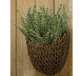 Chicken Wire & Angel Vine Wall Basket, 9x8