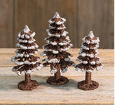 3/Set, Mini Glitter Christmas Trees