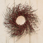 Burgundy Pip Twig Wreath, 16\