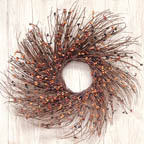 "16""  Prim Mix Pip  & Twig Wreath"