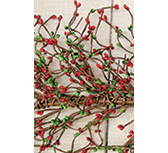 Red/Green Pip Garland, 4 ft.