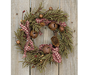 Rustic Holiday Pine Ring