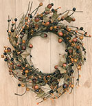 Country Mix Acorn Wreath - 12""