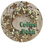 "4"" Coffee Bean Pip Ring w/Stars"