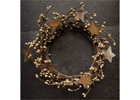 Teastain Pip Ring w/Stars 4""