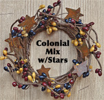 "2"" Colonial Mix Pip Ring w/Stars"