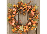 Harvest Garden Wreath, 14""