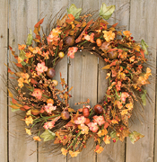 Harvest Garden Twig Wreath, 18""