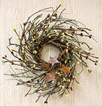 "10"" Coffee Pip & Twig Wreath"