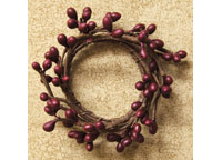 Burgundy Mini Pip Ring, 1-1/2""