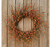 Bittersweet Sunburst Wreath
