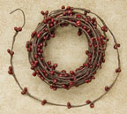Burgundy Pip String Garland, 18 ft.