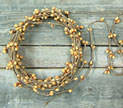 Old Gold Pip String Garland, 18 ft.