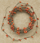 Pip Berry String Garland - Pumpkin - 18ft