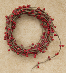 Red Pip String Garland, 18 ft.
