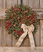 Pine Wreath w/Cones, 24\