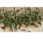Pine Garland with Cones, 4 ft