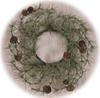 Cypress Pine Candle Ring, 4""