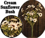 Sunflower Bush - Cream - 25""