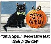 Come Sit A Spell Decorative Mat