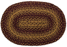 Burgundy/Tan Braided Placemat