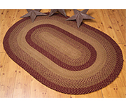 Tan/Red Oval Rug, 8x10