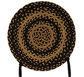 Braided Ebony Chair Pad *01573*