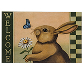 Bunny Welcome Mat