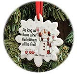 Wine & Holidays Ornament