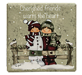 Cherished Friends Magnet Tile