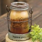 Pumpkin Spice 3 Layer Jar Candle w/Tin Holder, 14oz