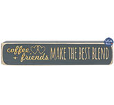 Coffee + Friends Make the Best Blend Engraved Block, 8\